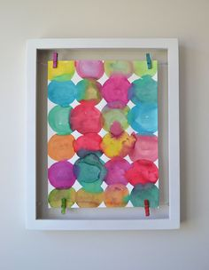 DIY Wall Art: Circle Paintings + Floating Frame