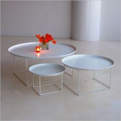 taylor creative inc. plate table white. b&b italia white metal plate table.