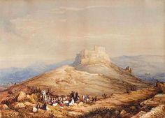 """""""Άποψη της Ακρόπολης"""" του William Page, δεύτερο τέταρτο 19ου αιώνα. Ιδιωτική συλλογή. """"View of Acropolis"""" by William Page, second quarter of 19th c. Private collection."""