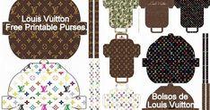 Diy Bags Patterns, Doll Dress Patterns, Purse Patterns, Eid Crafts, Paper Crafts, Oh My Fiesta, Paper Purse, Barbie Diorama, Louis Vuitton