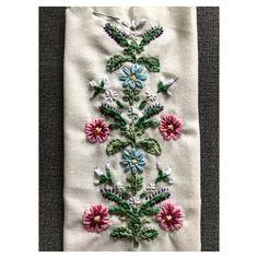 Hand embroidered floral design