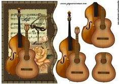 - Great design with vintage music for any occasion. Christmas Arts And Crafts, 3d Christmas, Mini Craft, Craft Box, Scrapbooking 3d, Image 3d, French Crafts, 3d Sheets, 3d Paper Crafts