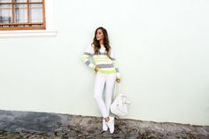 Knitted sweater from IVYREVEL // Asos jeans // Nike Air Max 90 shoes // bag from Whistles | Kenza Zouiten