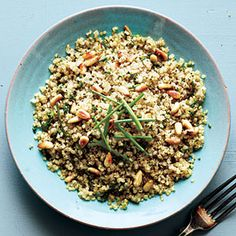 Quinoa with Toasted Pine Nuts | MyRecipes.com #myplate #grain