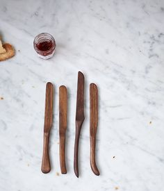 What do you get for the person who has everything? Fabulous, fancy wooden butter knives, of course.