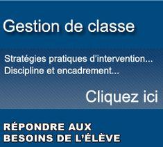 Pedagogie.net  Stratégies et techniques d'intervention   Discipline, gestion de classe, formations pratiques et adaptées