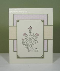 Happy Thymes! by ravengirl - Cards and Paper Crafts at Splitcoaststampers