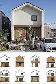 Minimal House Design, Modern Minimalist House, Minimal Home, Minimalist Architecture, Small House Design, Facade Architecture, Japan House Design, Design Exterior, Facade Design