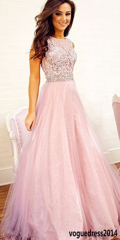 $188 Pink prom dress, Long prom dress, tulle prom dress, cheap prom dress, prom dress online, 2016 prom dress
