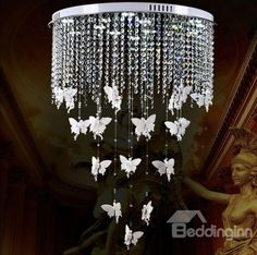 #creative #angle #homedecoration European Style Elegant Creative Angel Design Crystal Remote-control Flush Mount  Buy link-->http://goo.gl/RTbhbm Live a better life,start with @beddinginn