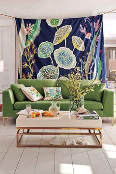 WANT this fabric! (…and that sofa…) --House and Home #anthrofave