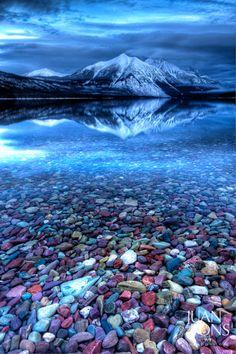Early Morning at Glacier National Park MT.  by Juan Pons.