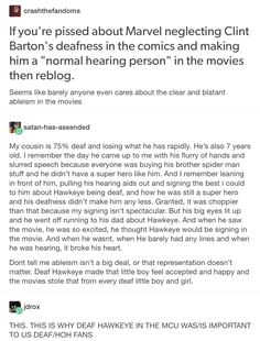 Clint Barton, marvel, mcu, avengers, hawkeye, representation