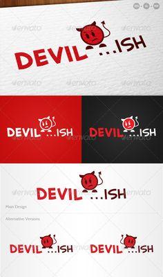 'Devilish'  Cute Devil Logo — Vector EPS #devil #naughty • Available here → https://graphicriver.net/item/devilish-cute-devil-logo/755484?ref=pxcr