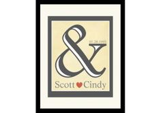 & Cream Personalized Print for Couples. - TheWeddingMile.com 25th Wedding Anniversary, Wedding Day, Newlywed Gifts, Something Blue, Newlyweds, Gift Ideas, Bridal, Couples, Mineral