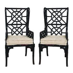 Bay Isle Home Waddell Bamboo Rayon Wing Back Arm Chair