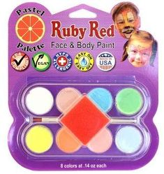 12 Color Palette Large Maydear Face Body Paint Kits for Kids with 2 Glitters