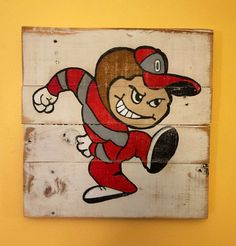 Brutus Buckeye Wall Art / Ohio State Pallet by PalletsandPaint