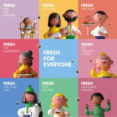 Brand New: New Logo and Identity for Kroger by DDB 3d Character, Character Concept, Character Design, Simple Character, Feeds Instagram, 3d Figures, Found Object Art, Ads Creative, 3d Artwork