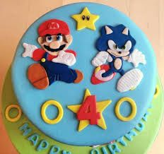 mario sonic cake - Google Search