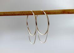 Hoop Earrings, Silver Hoop Earrings, Earrings For Women, Modern Earrings, Trendy Earring, Boho Earrings, Girlfriend Gift, Gift for Wife by KrishersJewelry on Etsy