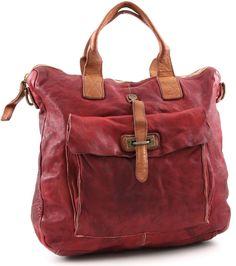 Campomaggi Lavaggio Stone Tote Leather red 40 cm - C1225VLCU-2396   Designer Brands :: wardow.com