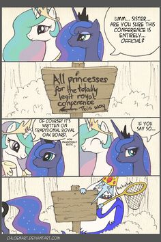 Not suspicious at all. by ChloeNArt on DeviantArt Celestia And Luna, Princess Celestia, Mlp Comics, Funny Comics, Adventure Time Crossover, Rainbow Dash And Soarin, Ice King, Best Sister, Mlp Pony