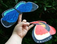 Balancing Butterflies - Free template and instructions Yoga For Kids, Diy For Kids, Crafts For Kids, Arts And Crafts, Paper Crafts, Paper Toys, Butterfly Party, Butterfly Crafts, Butterfly Kids