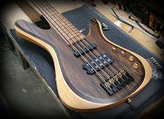 Kiesel Guitars Carvin Guitars Custom (Vanquish Series) Zircote Top on Mahogany body in a tung oil finish Bass, Tung Oil Finish, Kiesel, Cool Guitar, Instruments, Heaven, Design, Guitars, Musica