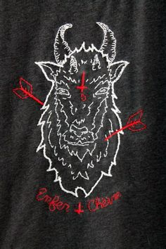 Embroidered Goat Swe...