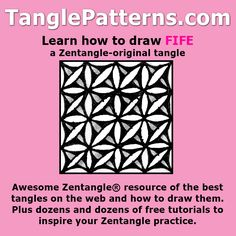 Step-by-step instructions to learn how to draw the Zentangle-original tangle pattern: Fife