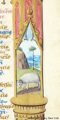 Book of Hours, MS fol. - Images from Medieval and Renaissance Manuscripts - The Morgan Library & Museum Aries Art, Zodiac Signs Aries, History Books, Art History, Christian Devotions, Book Of Hours, Medieval Art, Handmade Books, Illuminated Manuscript