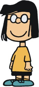 """Marcie Johnson (Marcie is Peppermint Patty's best friend, and is always following her around. She tends to call Patty """"Sir,"""" which makes Peppermint Patty mad and she is always telling her to stop, and always calls Charlie Brown """"Charles."""" Marcie has been known to be dim-witted, and seems to do nearly everything wrong. She also has a crush on Charlie Brown like Patty)"""