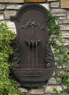 Angel Wings Wall Fountain Water Feature by Ambienté Drinking Fountain, Indoor Fountain, Tabletop Fountain, Pool Water Features, Water Features In The Garden, Garden Fountains, Wall Fountains, Yard Water Fountains, Outdoor Fountains