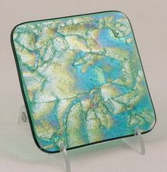 Green Fused Glass Coasters « Masters Glass Art