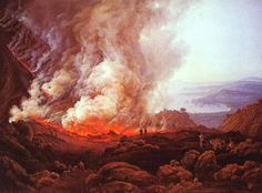 Johan Christian Dahl - The Eruption of Vesuvius in December The focus is more on nature in the Romantic style period. This painting explores the force and powerful sense of nature Pompeii Volcano, Johan Christian Dahl, Städel Museum, Art Gallery, Caspar David Friedrich, Art Database, Traditional Art, Canvas Art Prints, Les Oeuvres