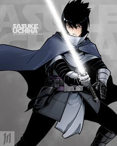 Grey Jedi Sasuke by G-Matoshi