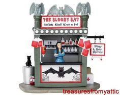 Lemax 33005 the Bloody Bat Spooky Town Table Accent Halloween Decor Halloween House, Holidays Halloween, Halloween Crafts, Halloween Decorations, Halloween Knitting, Halloween Queen, Scary Halloween, Halloween Village Display, Ghost And Ghouls