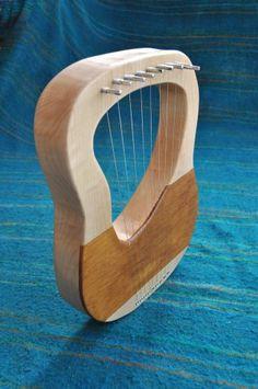 Beautiful Lyre Harp from soundtreeharps.com/ Birch Ply, Grand Piano, Harp, Musical Instruments, Bronze, Tools, Empire, Design, Green