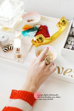 glam office #decor #gold #office #styling