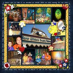 Snow White's Scary Adventure Layout  (click through for credits)