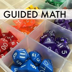 LOVE these tips for differentiating math centers using dice. Simple suggestions for fractions, place value, and multiplication!