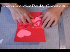 http://www.CreativePopUpCards.com/linkedhearts Please visit my website for tutorials and templates for my pop up cards.  This is a very simple Valentine's day card that can be made in 20 minutes.