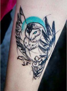 Shut the front door! Wow! Owl tattoo