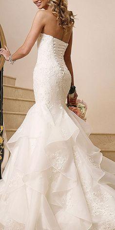 18 Mermaid Wedding Dresses From Top World Designers ❤ See more: http://www.weddingforward.com/mermaid-wedding-dresses/ #weddings #mermaiddress