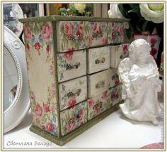 Декор предметов Декупаж Кракелюр Короба-коробочки Дерево фото 3