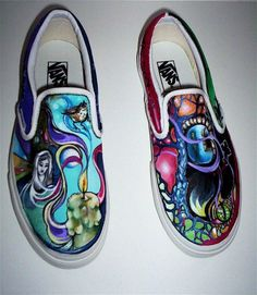 VANS Custom Illustrations on Canvas Sneakers. $85.00, via Etsy.