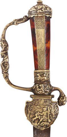 GERMAN CIVILIAN HANGER OR HUNTING SWORD C.1750-60
