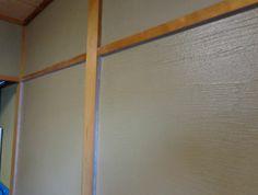 和室の壁を本格珪藻土、エコ・クィーンで★ まだ乾いてないため、濃い色です。