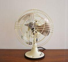 Refurbished vintage 1940's GE electric fan